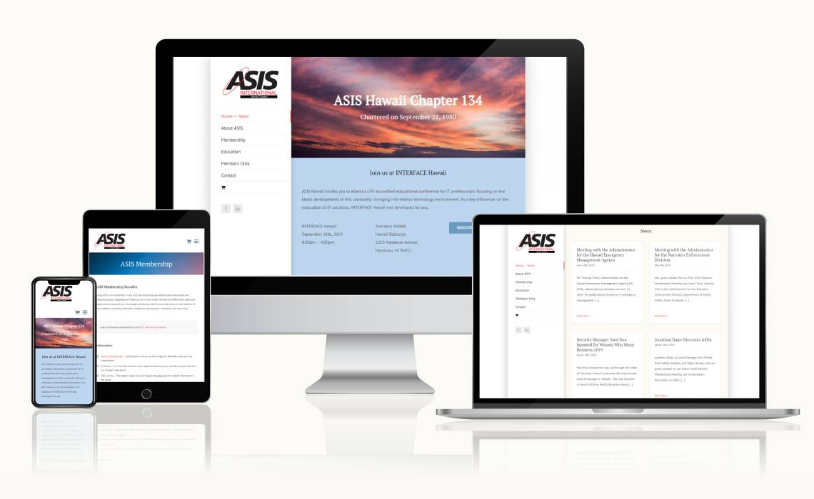 ASIS Hawaii website